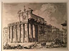 Giovanni Piranesi Veduta del Tempio di Antonino