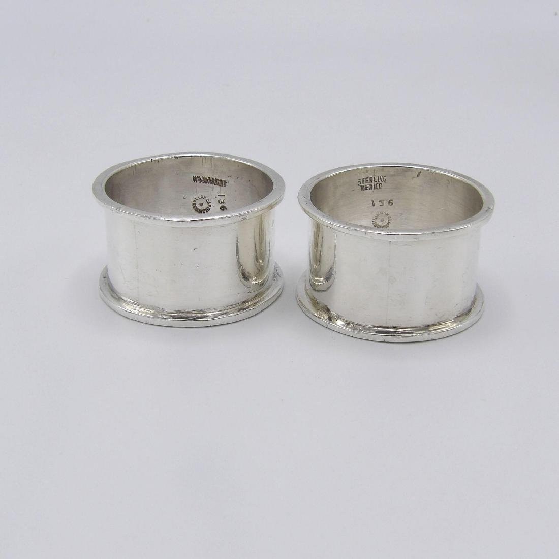 Vintage Taxco Sterling Silver Castillo Bro Napkin Rings