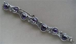 Margot de Taxco Amethyst Sterling Silver Bracelet