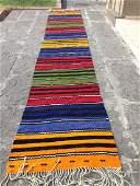 Turkish Vintage Handmade Kilim Runner Rug 14.4x2.5