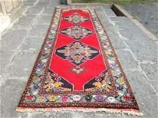 Vintage Turkish Runner Rug 11.3x3.6