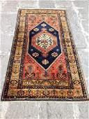 Vintage Turkish Area Rug 6.5x3.5