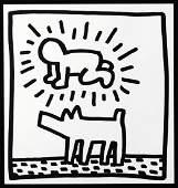 Keith Haring Print Baby & Dog