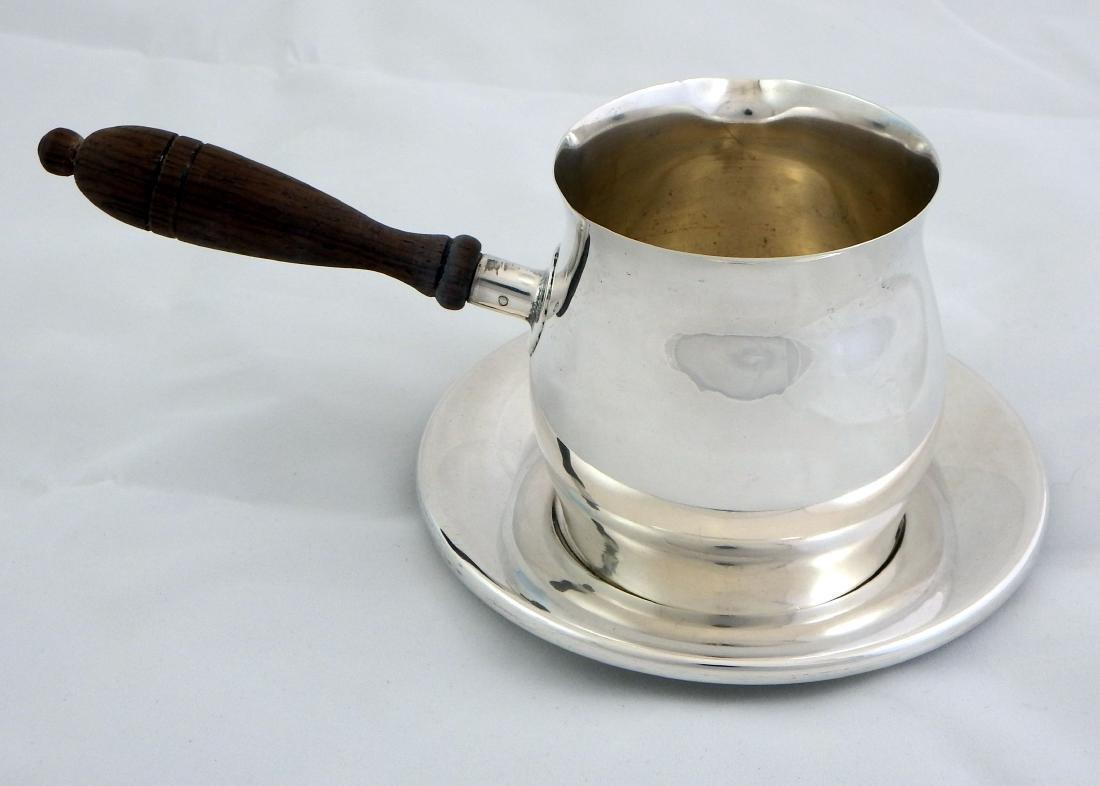 Wallace Sterling Silver Pipkin, Sauce Brandy Warmer