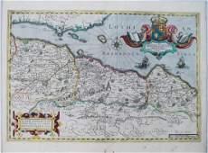 Hondius: Antique Map of Edinburgh Environs, 1638