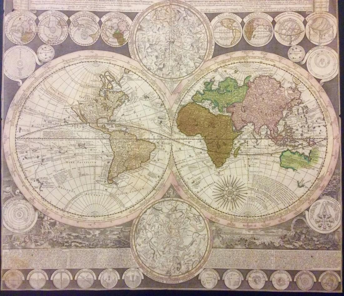 Zurner: Antique Map of the World, 1700