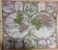 Seutter: Antique Map of the World, 1740