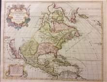 Elwe: Antique Map of North America, 1792