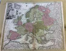 Seutter: Antique Map of Europe, 1740