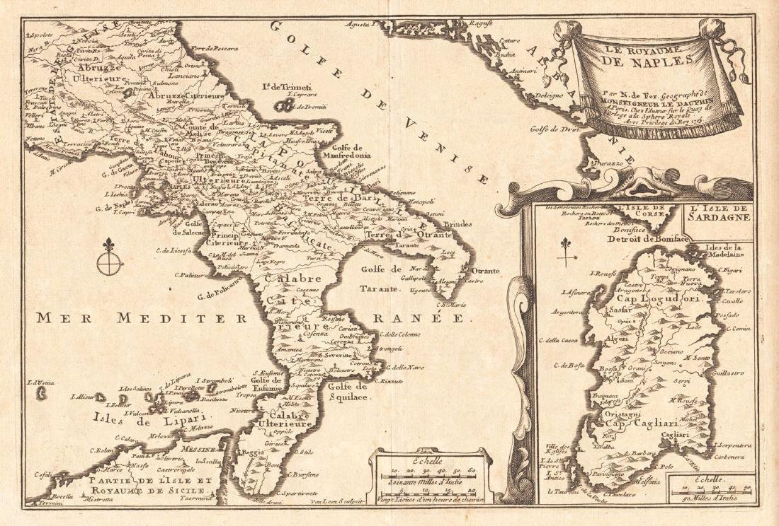 de Fer: Antique Map of Kingdom of Naples, 1705 Kingdom Of Naples Map on italian wars map, sardinia map, venice map, papal states, germany map, milan map, united kingdom, papal states map, kingdom of sardinia, paria peninsula map, saxe-weimar map, kingdom of italy, great britain map, house of savoy, crown of aragon, constantinople map, kingdom of prussia, two sicilies map, swedish pomerania map, republic of genoa, moldavia map, frankish empire map, ottoman empire map, joachim murat, republic of venice, confederation of the rhine, house of bourbon, italian unification, scotland map, italian peninsula map, italian social republic map, brazil map, byzantine empire map, sicilian vespers, kingdom of the two sicilies, kingdom of sicily,