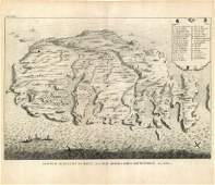 Calmet: Antique Map of Malta, St Paul's Shipwreck, 1728