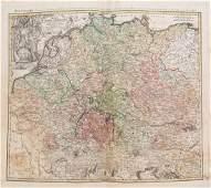 Homann: Antique Map of Germany, Poland, Austria, 1753