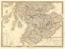 SDUK: Antique Map of South Scotland, 1845