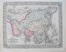 Mitchell: Antique Map of Asia, 1871