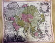 Seutter: Antique Map of Asia, 1740