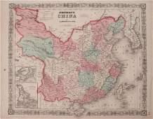 Johnson: Antique Map of China, 1863