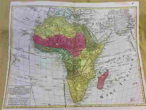 Lotter: Antique Map of Africa, 1772