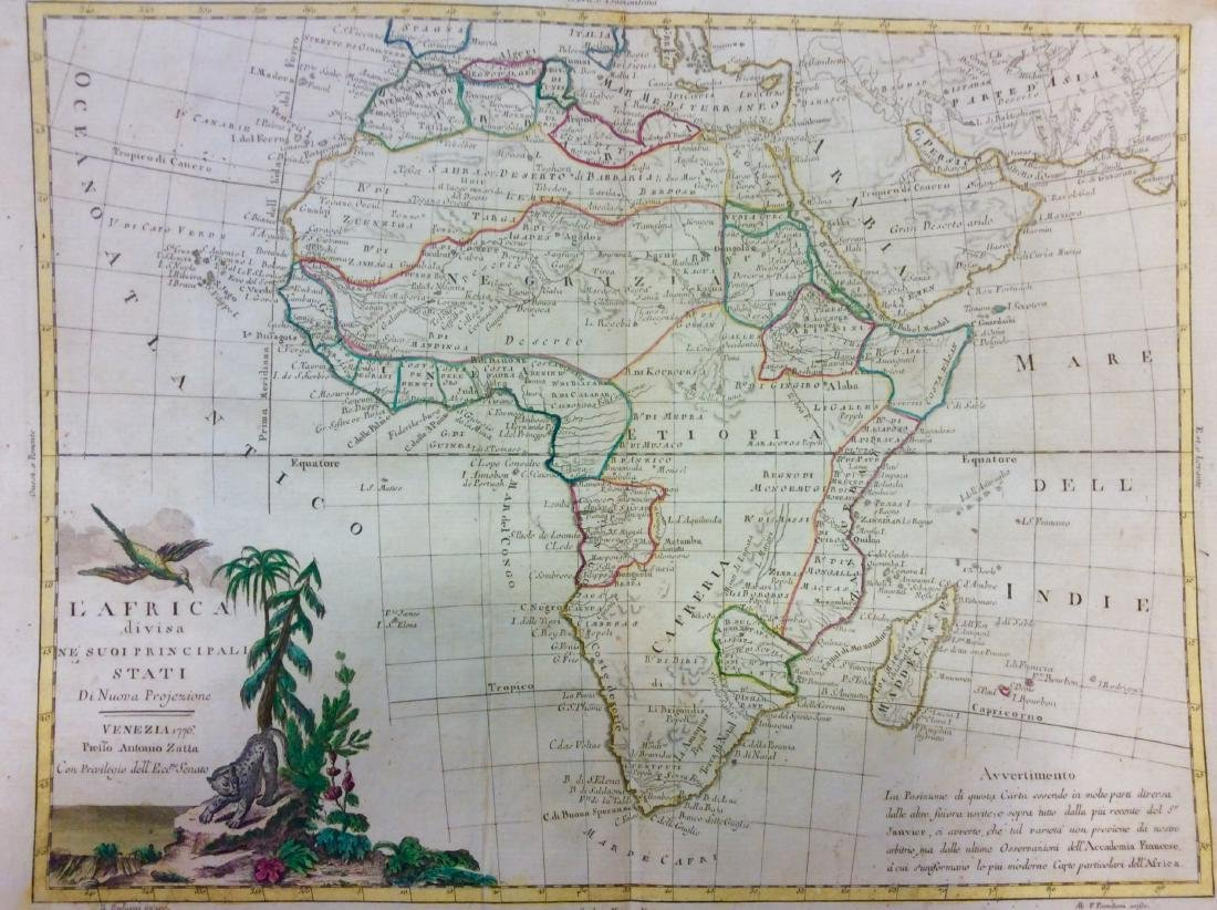 Zatta: Antique Map of Africa, 1770