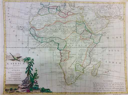 Zatta Antique Map Of Africa 1770