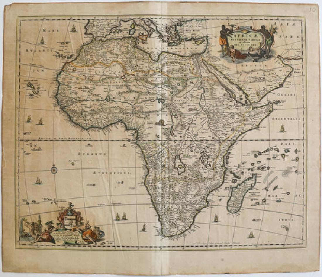 Visscher: Antique Map of Africa, 1670