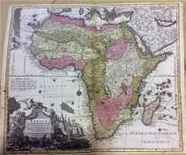 Seutter: Antique Map of Africa, 1740