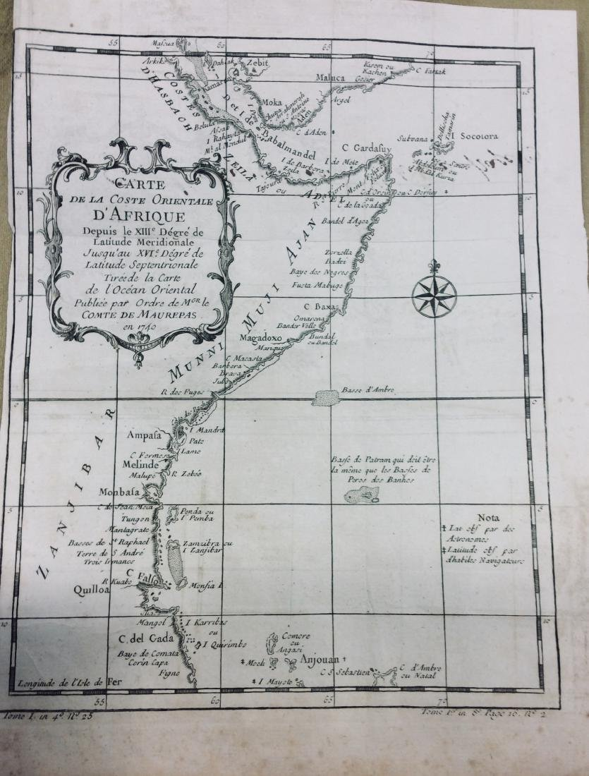 Bellin: Antique Map of Somali Coast East Africa, 1750