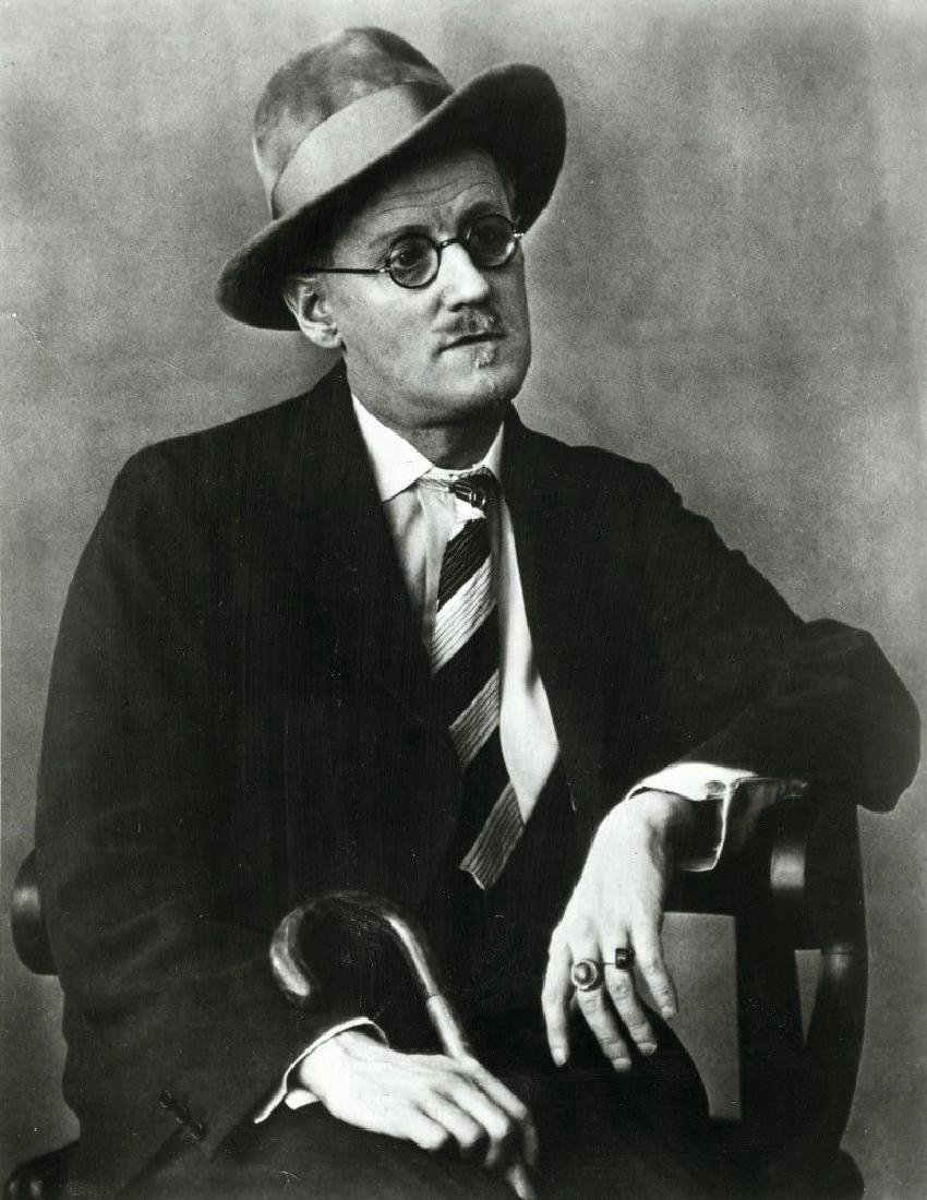 Press Photo 1928 Berenice Abbott Portrait James Joyce