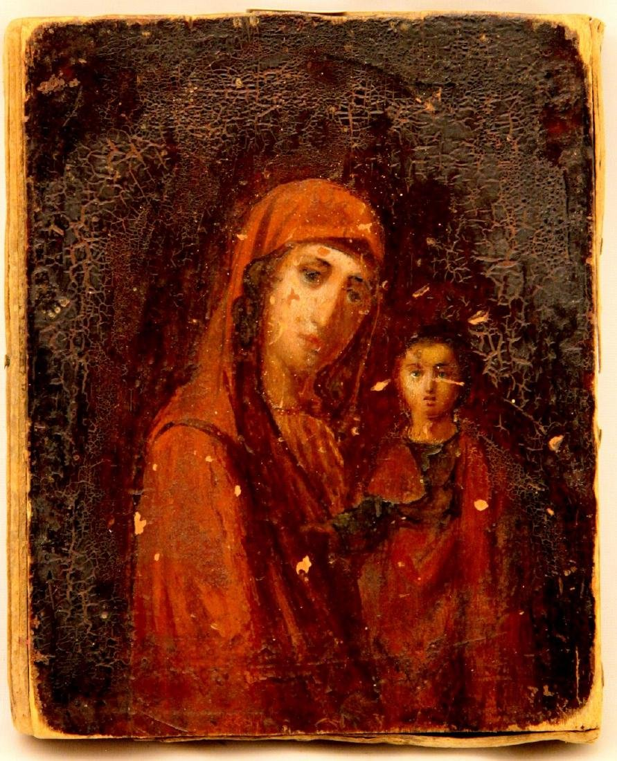 Our Lady Hodegetria of Kasan Antique Icon, 19th C