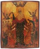 Our Lady of Joy to all Sufferers Antique Icon, 18th C