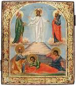 Transfiguration of Jesus Christ Antique Icon, 19th C