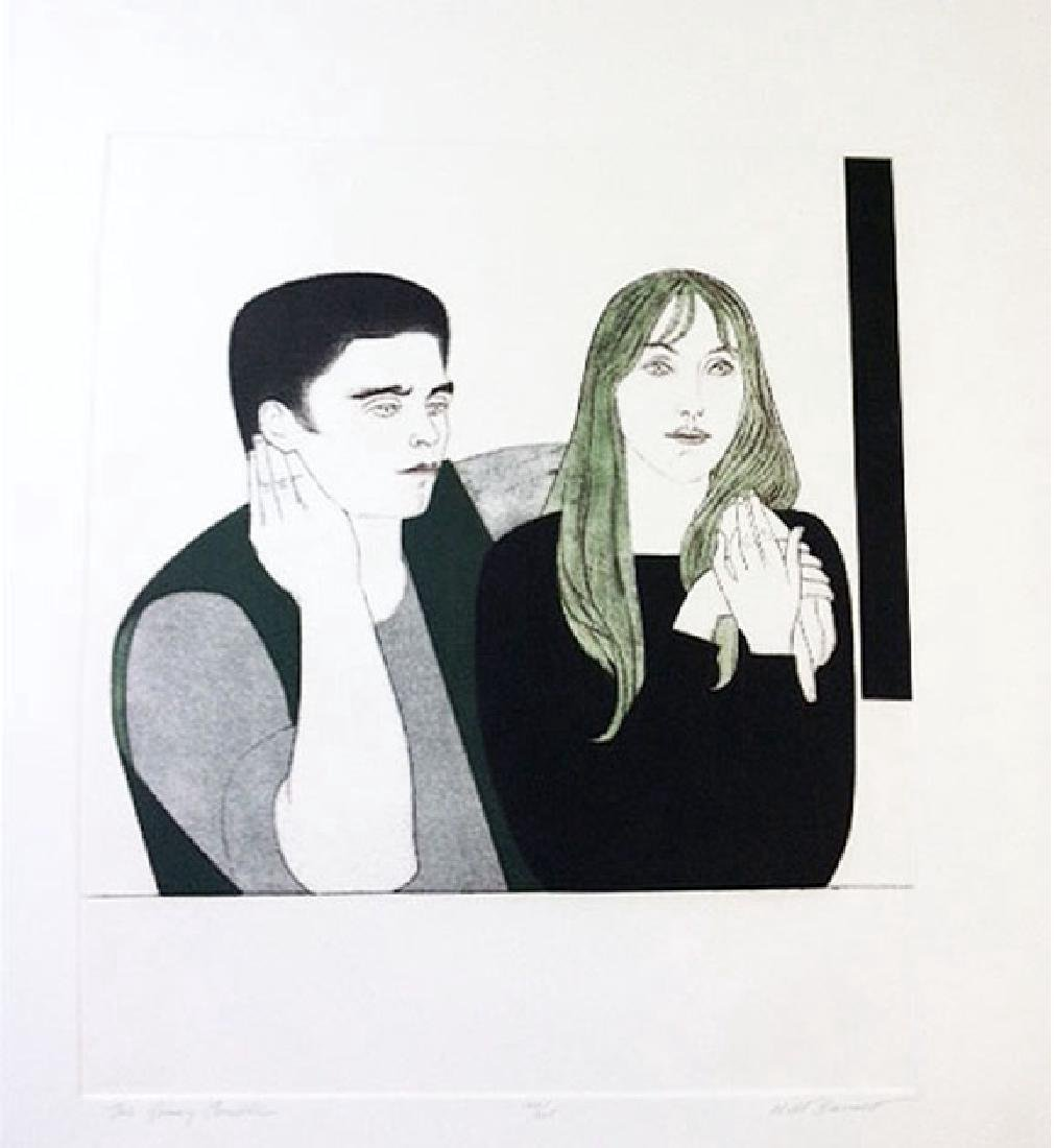 Will Barnet The Young Couple Etching & Aquatint