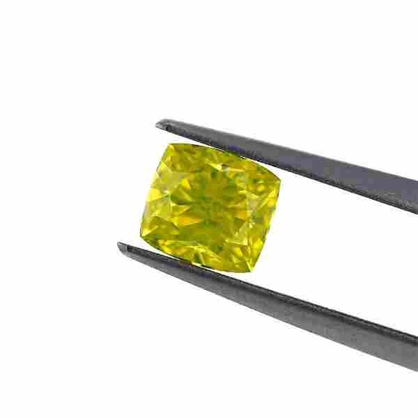 1.21 Carat Loose Fancy Vivid Yellow Diamond, GIA