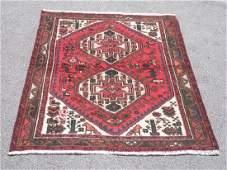 Collectible Handmade Persian Hamadan Rug 4.4x3.4