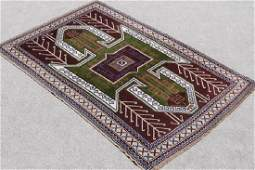 Handwoven Semi Antique Turkish Rug 4.10x7.3