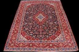 Rare Dark Toned Beautiful Persian Kashan Rug 12.7x10