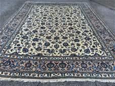 Semi Antique Persian Kashan Rug 9.8x13.8