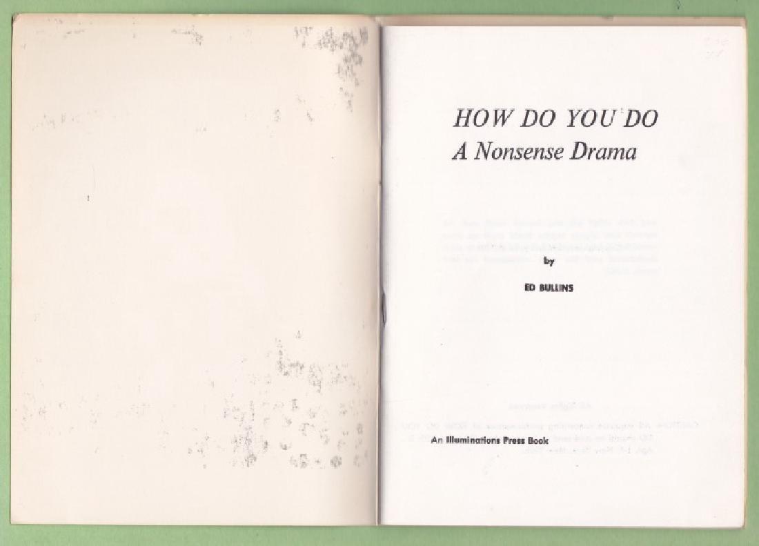 Bullins, Ed How Do You Do: a Nonsense Drama - 2