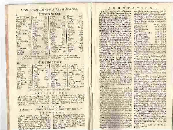 1740 Gentleman's Magazine Coinage Asia and Africa
