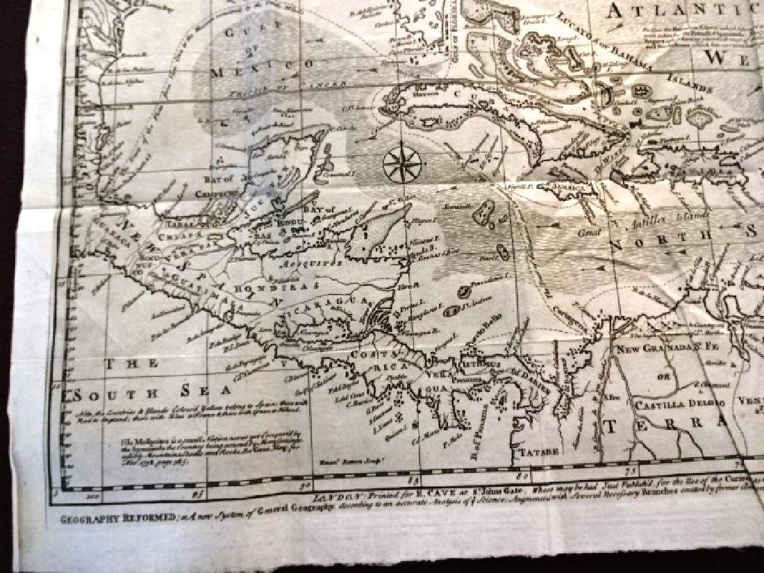 1740 Detailed Folding Map West Indies and America - 4