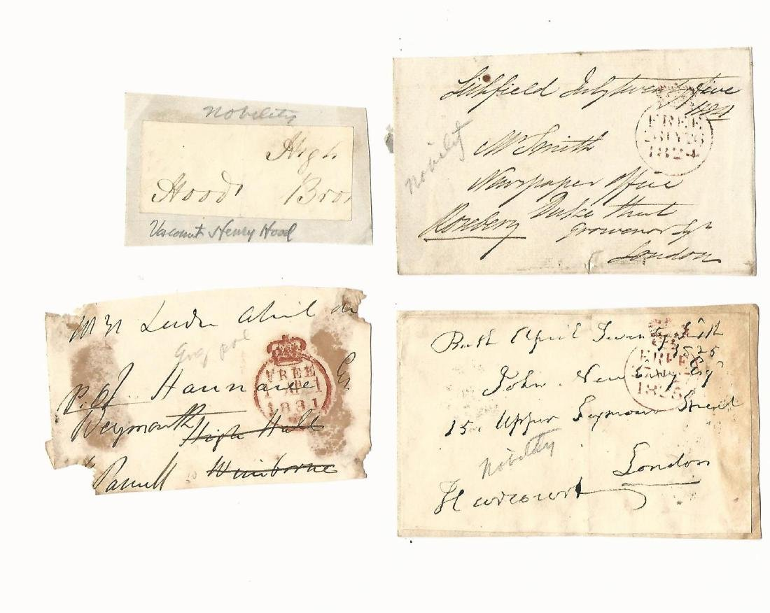 Group of English Autographed Fronts 19th C