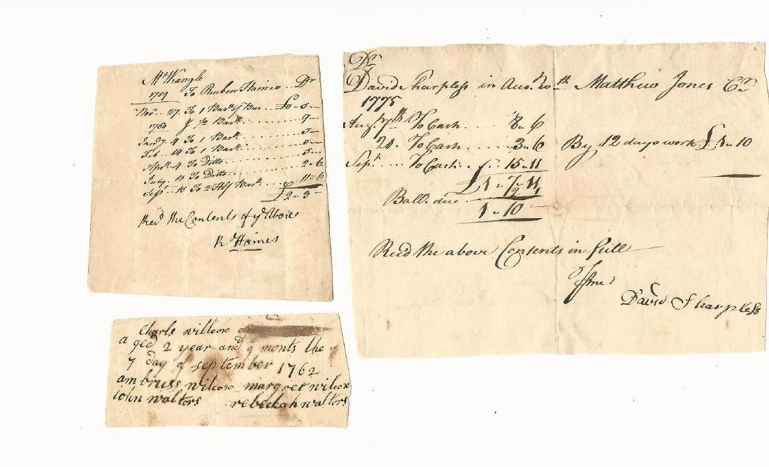 1759 Group of Four Colonial Documents