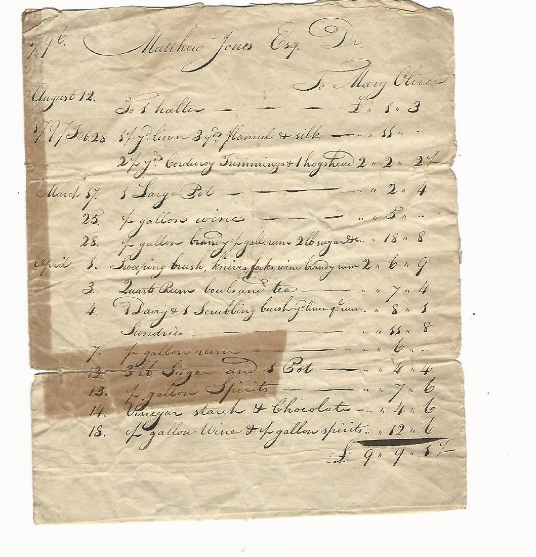 1759 Group of Four Colonial Documents - 2