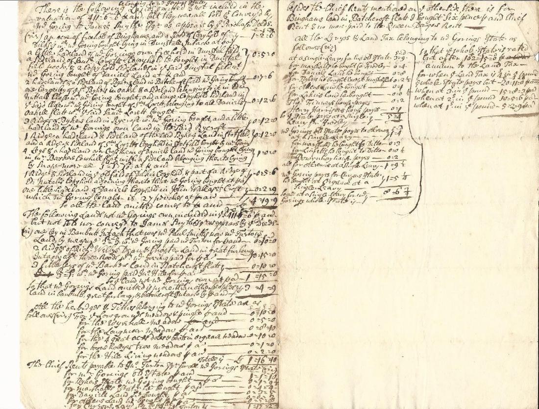 Early 18th Century Manuscript English Manor Laws