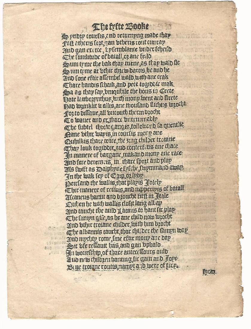 1553 English Leaf Translation of Aeneid Virgil