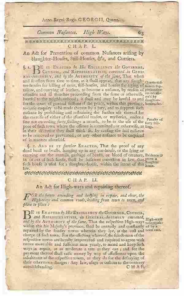 1771 Colonial Law Leaf Powder Money