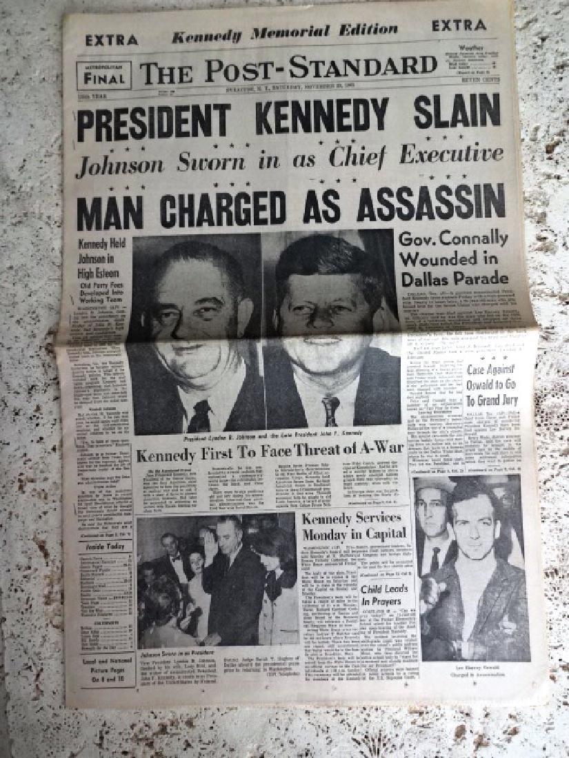 1963 Kennedy Assasination Newspaper