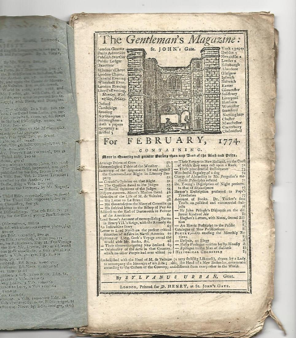 1774 Magazine Account of Cook's Voyage Around World - 2