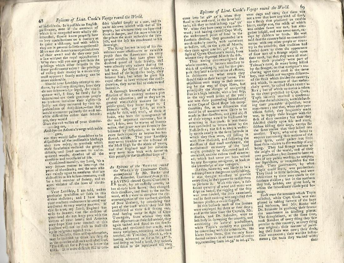 1774 Magazine Account of Cook's Voyage Around World - 4