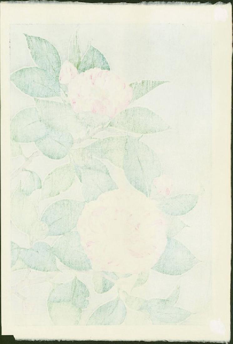 Shodo Kawarazaki Woodblock Camellias (Tsubaki) - 4