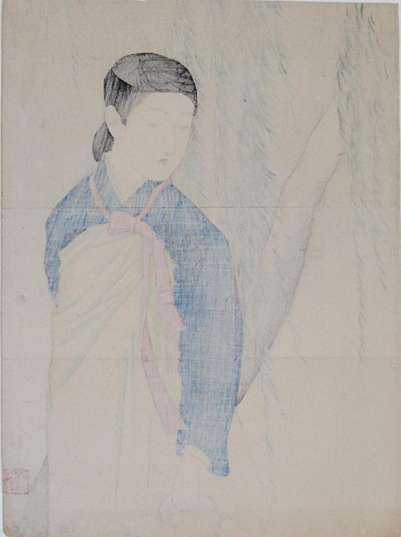 Takeuchi Keishfi Woodblock Korean Beauty - 2
